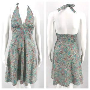 Anthropologie Dresses - ANTHRO EVA FRANCO Dress 2 Halter Paisley Beach Sun